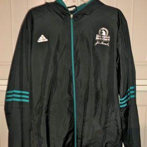 Men 2016 Boston Marathon Adidas Hooded Jacket XL